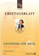West-Duitsland - Ersttagsblatt - 3/1999 - 500. Geburtstag Von Katharina Von Bora - Gattin Martin Luthers - Michel 2029 - [7] West-Duitsland