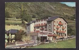 CPSM ANDORRE - ENCAMP - Hotel Rosaleda - TB PLAN Etabliisement Et Sa Façade AUTOMOBILES STATION SERVICE - Andorre