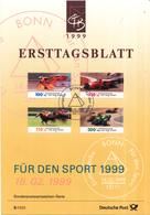 West-Duitsland - Ersttagsblatt - 5/1999 - Sporthilfe: Rennsport - Michel 2031-2034 - [7] West-Duitsland