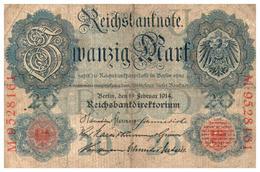 Billets > Allemagne >   20 Mark 1914 - [ 2] 1871-1918 : Empire Allemand