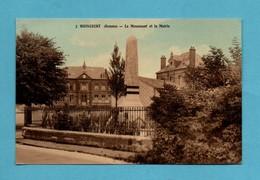 80 Somme Woincourt Le Monument Aux Morts Et La Mairie - Other Municipalities