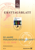 West-Duitsland - Ersttagsblatt - 8/1999 - 50 Jahre Fraunhofer-Gesellschaft - Michel 2038 - [7] West-Duitsland