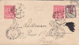 Pli GB Pour France, Avec Cachets Sur Timbres 2&1/2d Pour Port + Timbre 1d Pour Levée Tardive. 1911. - Perfins