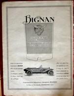 Publicité L'illustration 1924 - Automobile Ancienne - Bignan - Werbung