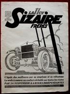 Publicité L'illustration 1926 - Automobile Ancienne - Sizaire Frères - Advertising