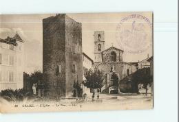 GRASSE - L' Eglise , La Tour - 2 Scans - Grasse