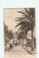 GRASSE - Boulevard Fragonard  Animé Avec Attelage - Tampon 23è Bataillon Chasseurs à Pied - 2 Scans - Grasse
