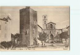 GRASSE - L' Eglise - La Tour - 2 Scans - Grasse