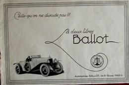 Publicité L'illustration 1926 - Automobile Ancienne - Ballot39 Bvd Brune Paris - Pubblicitari