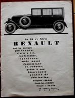 Publicité L'illustration 1926 - Automobile Ancienne - La 15 Cv Renault - Pubblicitari