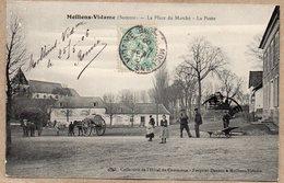 80 - MOLLIENS VIDAME - LA PLACE DU MARCHE - LA POSTE - ANIMEE - 1905 - France