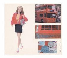 Planche De 4 Autocollants Poupée Barbie à Londres, Bus, Cabine Téléphonique - Barbie