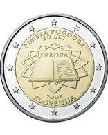 """SLOVENIE 2€ """"LES 50 ANS DU TRAITé DE ROME 2007"""" (UNC ET ISSUE DE ROULEAU) - Slovénie"""