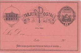 URUGUAY 1883 ENTIER POSTAL CARTE ILLUSTREE - Uruguay