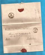 1850 AUSTRIA  JUGOSLAVIJA VOJVODINA BACKA EX OFFO LETTER APATHIN PER ZOMBOR INTERESSANT - Yougoslavie