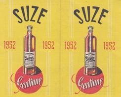 CALENDRIER PUBLICITAIRE 1952 GENTIANE SUZE  5.5 X 9.0 - Calendars