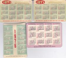 CHINE CALENDRIER PUBLICITAIRE 1971  LE LOT DE 4 PIECES 9.00 X 6.00 - Calendriers