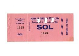 ANTIGUA ENTRADA OLD TICKET CORRIDA DE TOROS PLAZA DE ÉCIJA (SEVILLA) ESPAÑA SPAIN BULLFIGHTING TOREO TORERO AÑO 1956 VER - Tickets - Entradas
