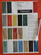 Lot De 2 Publicités Sur Les Revêtement De Sol En Plasto Dätwyler - 1957 - Switzerland