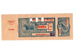 ANTIGUA ENTRADA OLD TICKET CORRIDA DE TOROS PLAZA DE ÉCIJA (SEVILLA) ESPAÑA SPAIN BULLFIGHTING TOREO TORERO AÑO 1957 VER - Tickets - Entradas