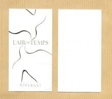 Carte Parfumée Perfume Card AIR DU TEMPS * NINA RICCI - Perfume Cards