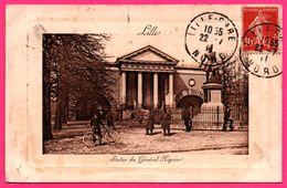 Lille - Statue Du Générale Négrier - Ecole D'équitation - Militaire - Bicyclette - Cp Codée - E.L.D. - 1911 - Embossed - Lille