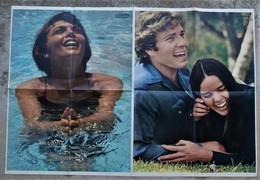 Mireille Mathieu Et Ali Mc Gram Avec Ryan O'Neal  Issu De Salut Les Copains - Affiches & Posters
