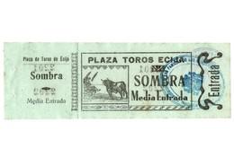 ANTIGUA ENTRADA OLD TICKET CORRIDA DE TOROS PLAZA DE ÉCIJA (SEVILLA) ESPAÑA SPAIN BULLFIGHTING TOREO TORERO NO FECHADA - Tickets - Entradas