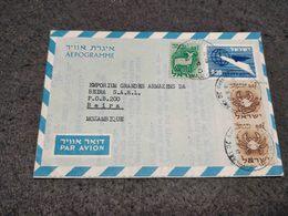 ISRAEL CIRCULATED AEROGRAMME TEL - AVIV TO MOZAMBIQUE BEIRA 1961 - Airmail