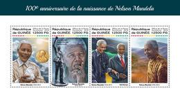 Guinea. 2018 100th Anniversary Of Nelson Mandela. (220a) - Nobel Prize Laureates