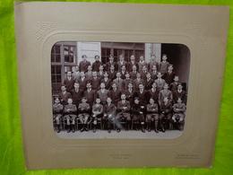 Grande Photo De Groupe D'élèves Ecole Turgot Paris Année 1914 Photographe De Jongh,freon - Anonyme Personen
