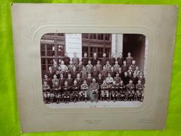 Grande Photo De Groupe D'élèves Ecole Turgot Paris Année 1913 Photographe De Jongh,freon - Anonymous Persons
