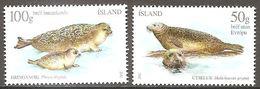 Island Iceland Islande 2011 Seals Robben Michel No. 1302-03 Mint Postfrisch Neuf MNH ** - 1944-... Republique
