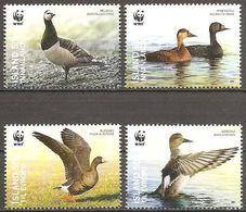 Island Iceland Islande 2011 Nature Protection Birds Naturschutz Vögel Michel No. 1298-1301 Mint Postfrisch Neuf MNH ** - 1944-... Republique
