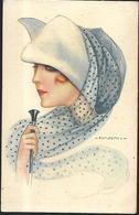 NANNI Femme Au Chapeau   Série N° 980 - Nanni