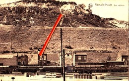 FLEMALLE-Haute - Les Rochers - Avec Wagons Chargés Au Bas De La Carte - Flémalle