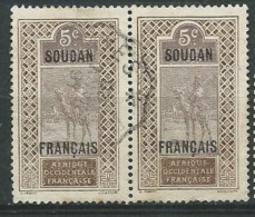 Soudan Français   - Yvert N°  23 Paire  Oblitéré -   Aab 16315 - Usati