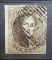 BELGIE  1861    Nr. 10  (11)     Gestempeld   CW 10,00 - 1858-1862 Medaillons (9/12)