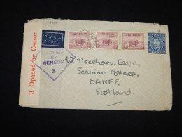 Australia 1941 Censored Air Mail Cover To Scotland__(L-13866) - Luftpost