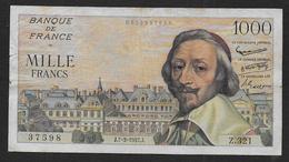 France - 1000 Fr  Richelieu  Du 7 - 3 - 1957 - 1871-1952 Anciens Francs Circulés Au XXème