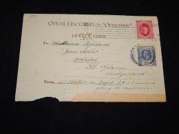Ceylon Part Of Old R.M.S. Ormoden Card__(L-13303) - Ceylan (...-1947)