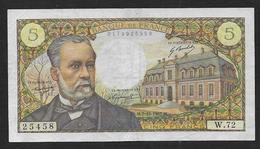 France - 5 Fr  Pasteur  Du  7 - 12 - 1967 - 1962-1997 ''Francs''