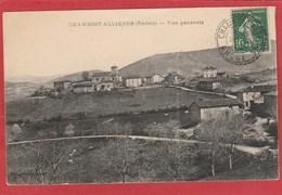 Rhône - Facteur Boitier - Chambost Allières  Sur Type Semeuse  10c 1922 Sur Carte Postale - 1921-1960: Periodo Moderno