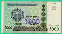 5000 Sum - Ouzbékistan - 2013 - N°. OK0528354 - TTB - - Ouzbékistan