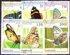 Benin - Schmetterlinge (MiNr: 778/84) 1996 - Gest Used Obl - Bénin – Dahomey (1960-...)