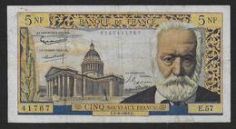 France - 5 NF  Victor Hugo  Du  1 - 6 - 1961 - 1959-1966 Nouveaux Francs