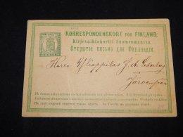 Finland 1870's 8p Green Stationery Card__(L-13658) - Postal Stationery