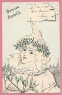 """54 - NANCY - Carte """" Bonne Année """" Signée André DUPUIS - 2 Scans - Nancy"""