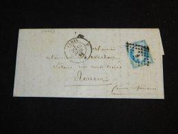 France 1858 Paris Letter__(L-14383) - 1853-1860 Napoléon III.