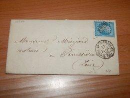 France 1865 Saint-Paul-Trois-Chateaux Letter__(L-15540) - 1863-1870 Napoleon III With Laurels